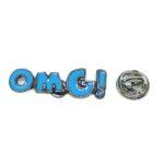 """""""OMG"""" Word Lapel Pin"""