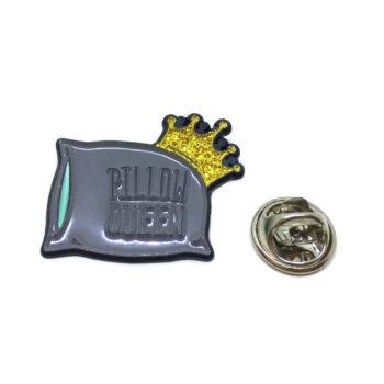 """""""PILLOW QUEEN"""" Word Lapel Pin"""
