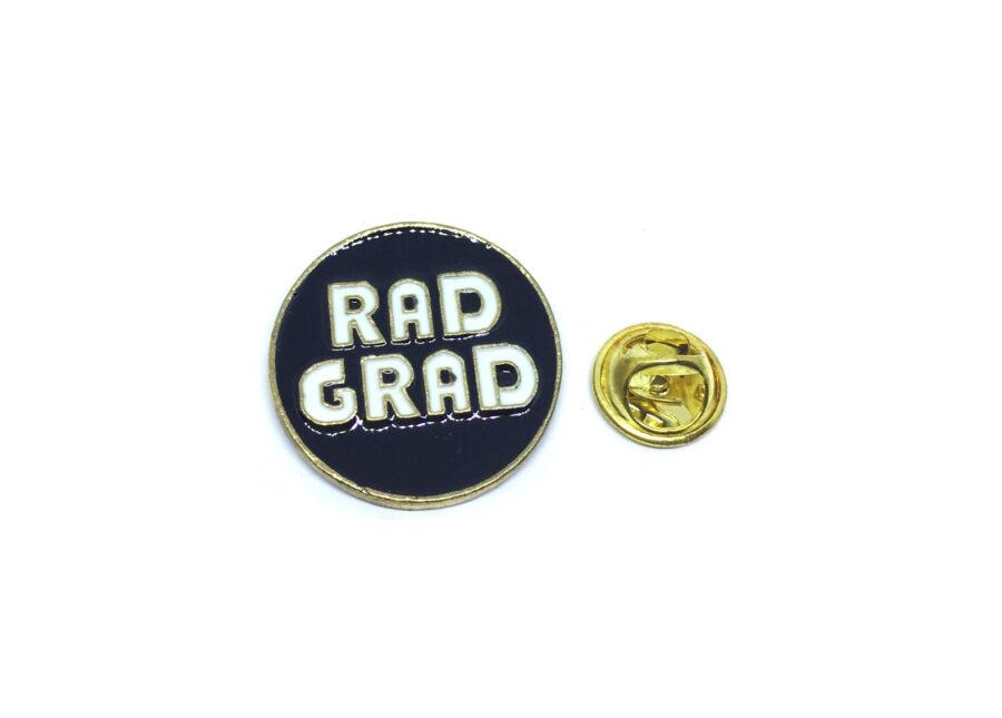 """RAD GRAD"" Word Lapel Pin"