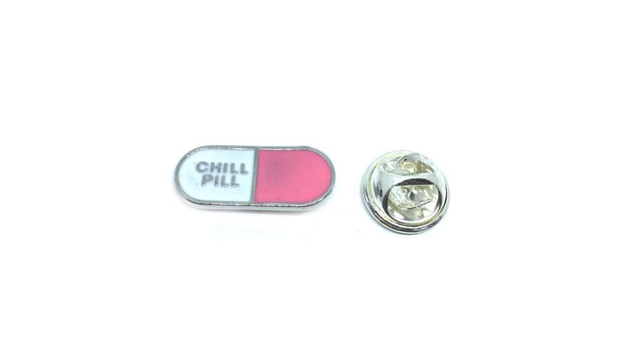 """CHILL PILL"" Word Lapel Pin"