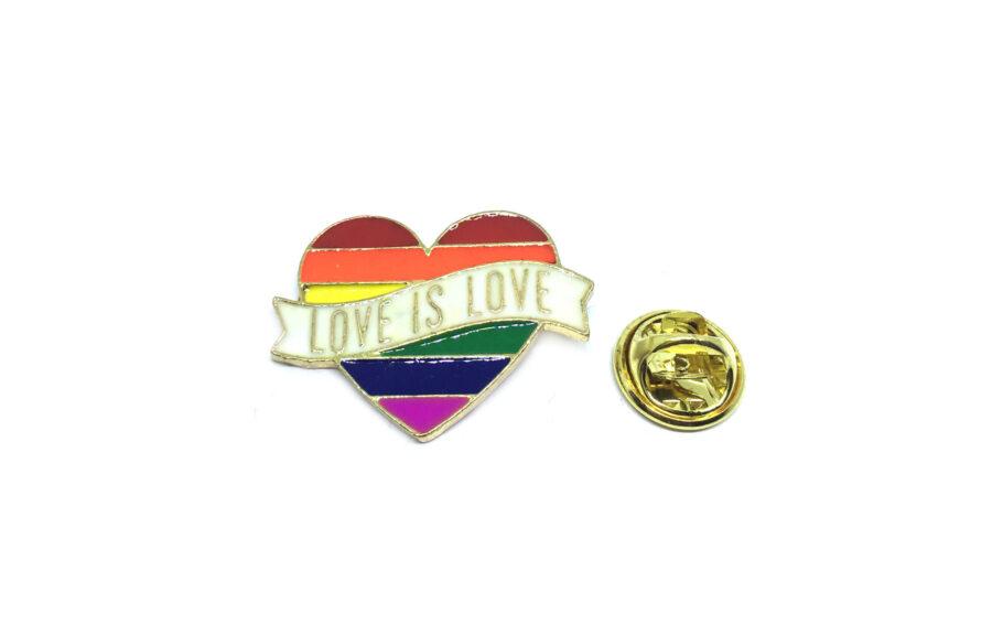 """LOVE IS LOVE"" Word Lapel Pin"
