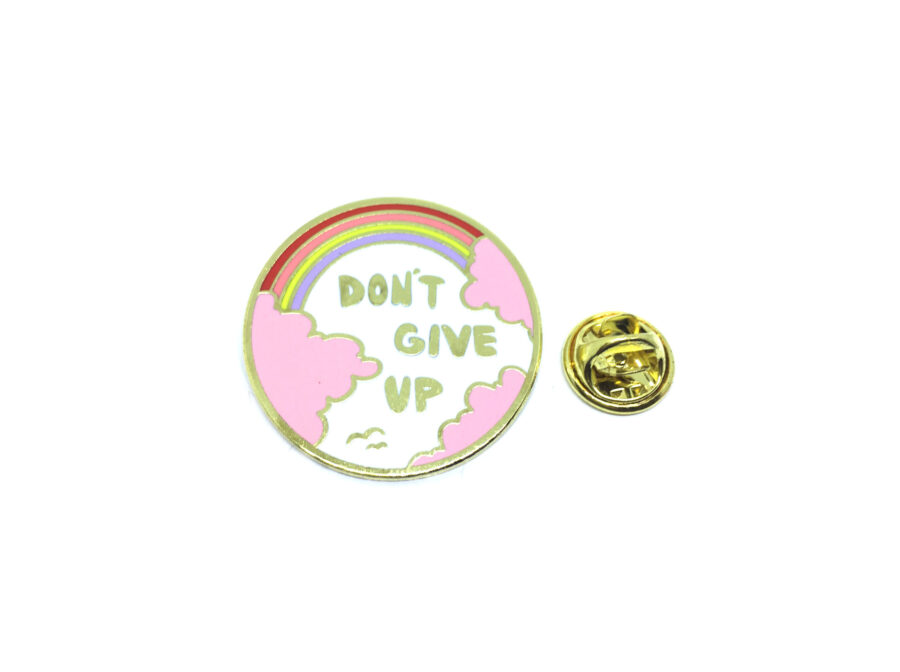 """""""DON'T GIVE UP"""" Word Lapel Pin"""