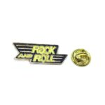 """""""ROCK AND ROLL"""" Word Lapel Pin"""