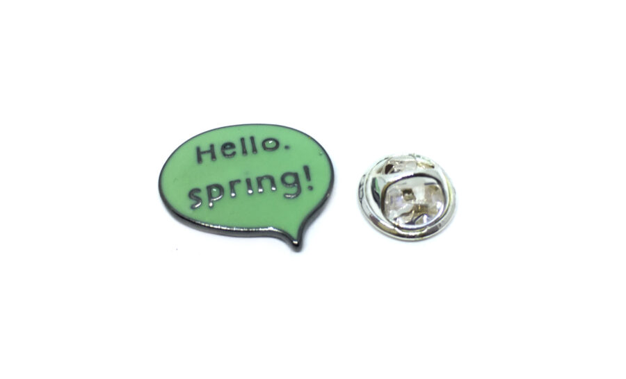 """Hello Spring!"" Enamel Lapel Pin"