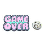 """""""GAME OVER"""" Word Lapel Pin"""