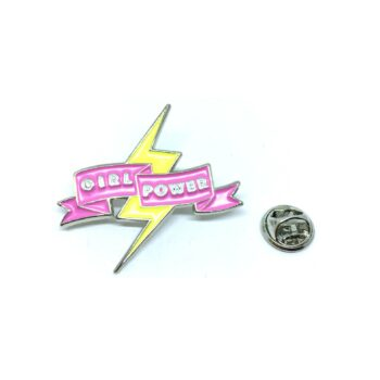 """GIRL POWER"" Word Lapel Pin"