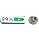 """99% Power"" Word Lapel Pin"