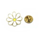 White Flower Lapel Pins