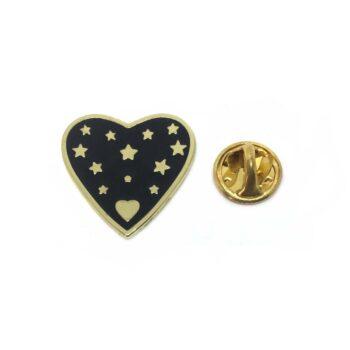 Star Heart Lapel Pin