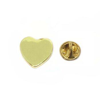 Gold Plated Tiny Heart Lapel Pin