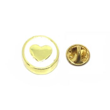 Gold Plated Heart Lapel Pin