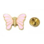 Pink Enamel Butterfly Pin