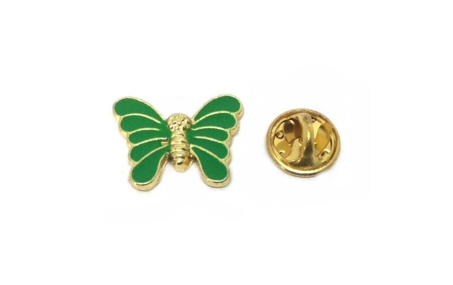 Green Enamel Butterfly Pin