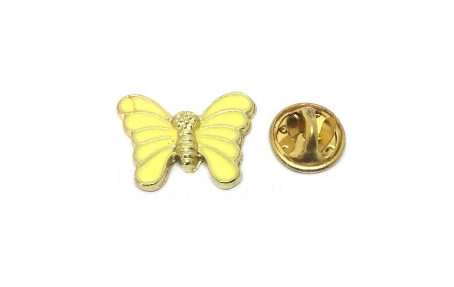 Yellow Enamel Butterfly Pin