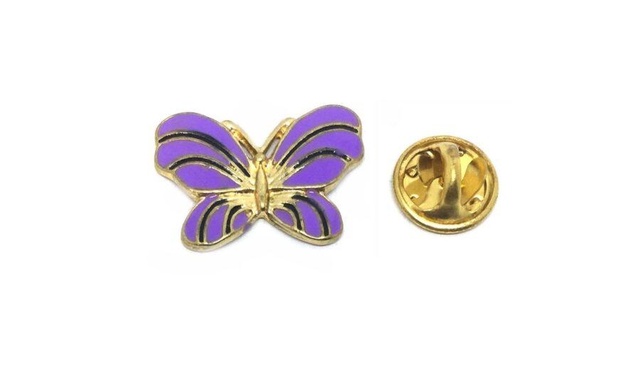 Purple Enamel Butterfly Pin