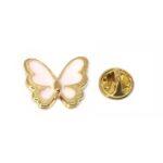 White Enamel Butterfly Pin