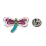 Multi-color Dragonfly Lapel Pin