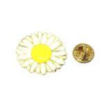 Enamel Sunflower Lapel Pin