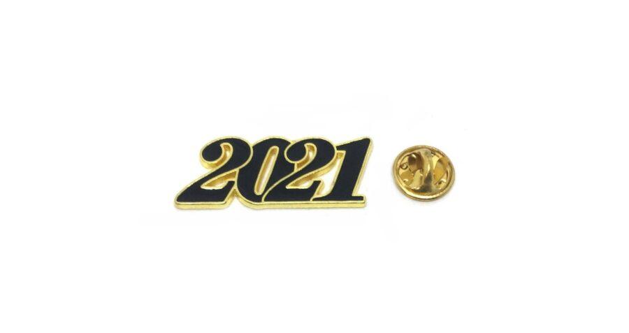Black Enamel 2021 Year Lapel Pin