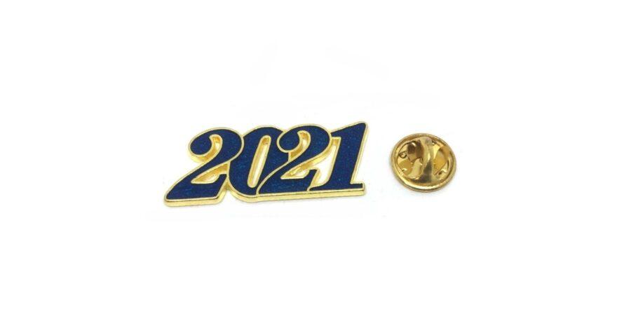 Blue Enamel 2021 Year Lapel Pin
