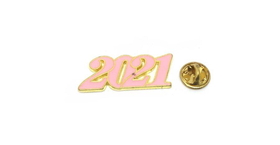 Pink Enamel 2021 Year Lapel Pin