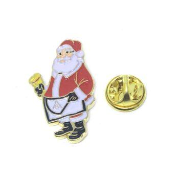 Santa Christmas Lapel Pin